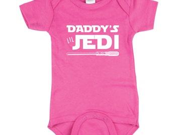 Daddy's Lil Jedi Onesie - Baby Onesie - Baby Bodysuit - Baby Shirt - Infant Shirt - Kids Shirt Baby Clothes Star Wars Matching