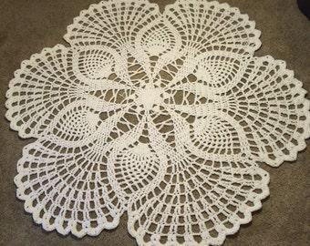 10 ft Crocheted doily rug