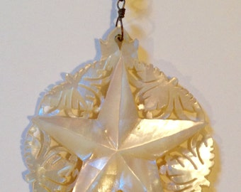 1920's Mother of Pearl Star Necklace