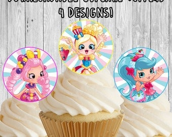 Shopkins Shoppies Dolls Cupcake Toppers / Picks - birthday party favor decor - instant download
