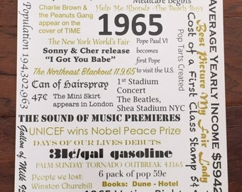 1965 - Fun Facts & Figures