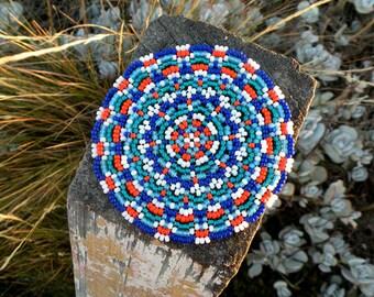 Beaded Coaster Tutorial – Seed Bead Tutorial – Bead Pattern – Toho Seed Beads – DIY Gift – Beaded Coasters – Beadweaving – Peyote Pattern