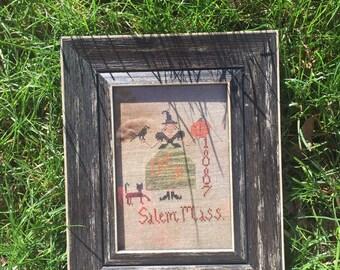 Halloween Salem Witch Cross Stitch!