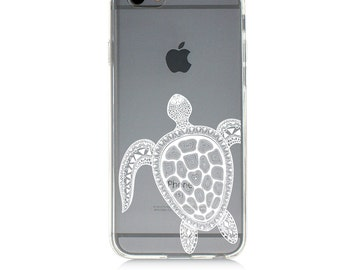 iPhone 7 Clear Case - Turtle - Protective TPU cover for iPhone 7 - 7 plus - iPhone 6s -  6s plus - Samsung Galaxy s5 s6 s7 Note 7