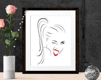 inspirational art live laugh love gift pop art wall art prints 8x10 a3 instant download