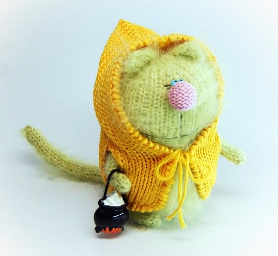 Amigurumi Jacket : GREENY CAT AMIGURUMI Cat Kitty in Yellow Jacket by ...