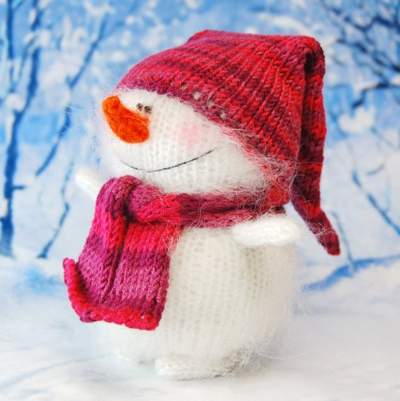 CHRISTMAS SNOWMAN AMIGURUMI Snowman Knit by MiracleStoreUS