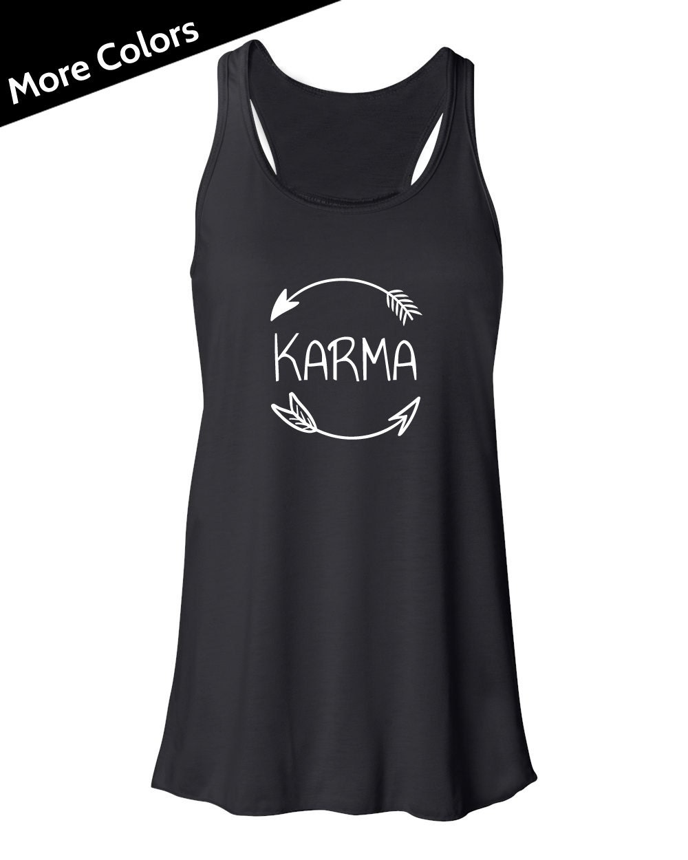 Karma Shirt Karma Tank Top Funny Yoga Tank Arrow Tank Top