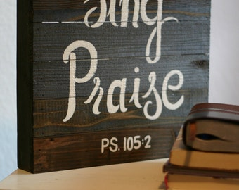 Sing Praise Wooden Panel Decor