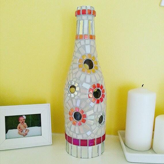Wine Bottle Home Decor: Peekaboo Wine Bottle Mosaic Wine Bottle Home Decor Wine
