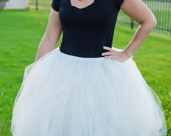 Ivory Tulle Skirt, Tutu, Ladies Tutus, Maternity Tutu, Engagement Pictures, Bridesmaids, Plus Size, Ivory Skirt, Wedding Tutu