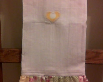 Shabby Chic Patchwork Ruffled Towel