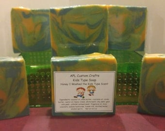 Children Soap - Honey I washed the kids type scent - fragrance dupe, clean scent, honey with citrus & floral notes blended with warm vanilla