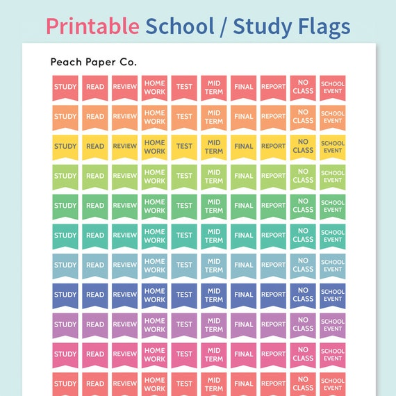 Items similar to 140 College Study Stickers / Printable ...