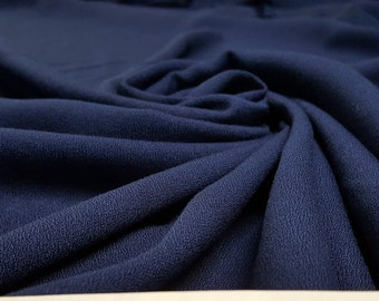 Navy Blue Rayon Crepe