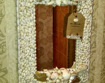 Ivory Seashell Mirror