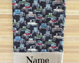 Old Antique Cars Pillowcase, Car Pillowcase, Boys Pillowcase, Cars, Pillowcase, Embroidered, Monogrammed, Personalized, Bedding, Antique Car