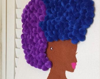 Black Girl Mermaid Afro Bag