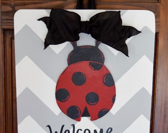 Summer Ladybug Door Hanger- Attachment Only