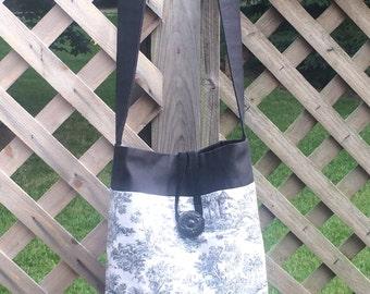 Black and White Toile City Bag/Purse