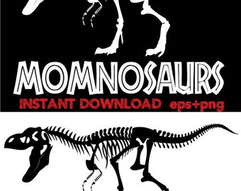 Momnosaurs Clip Art,T shirt, iron on , sticker, Vectors - Commercial and Personal Use