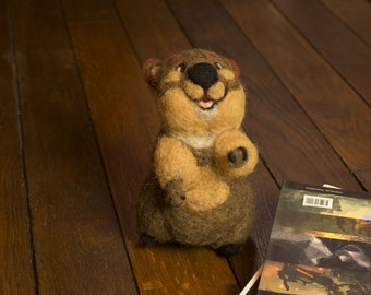 Quokka, Australian Animal, Needle Felted Soft Sculpture