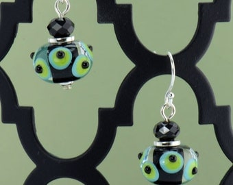 Polka Dot Lampwork Earrings - E2044