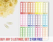 Erin Condren Flag Checklist Planner Stickers in Pastel Pink, Blue and Green