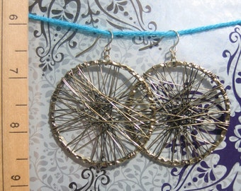 Bronzed Wire Wrapped Hoops