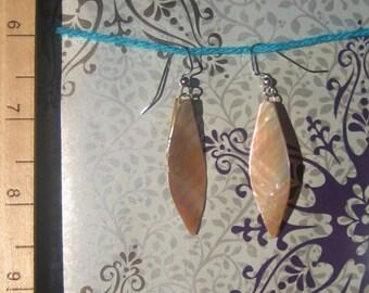 Mother Of Pearl Leaf Like Shaped Shell Earrings