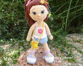 PATTERN - Doll Paty - crochet pattern, amigurumi pattern, PDF