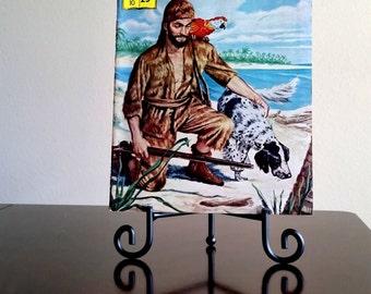 Classics Illustrated Robinson Crusoe by Daniel Defoe No. 10  Summer 1970 Heavy Stock Cover
