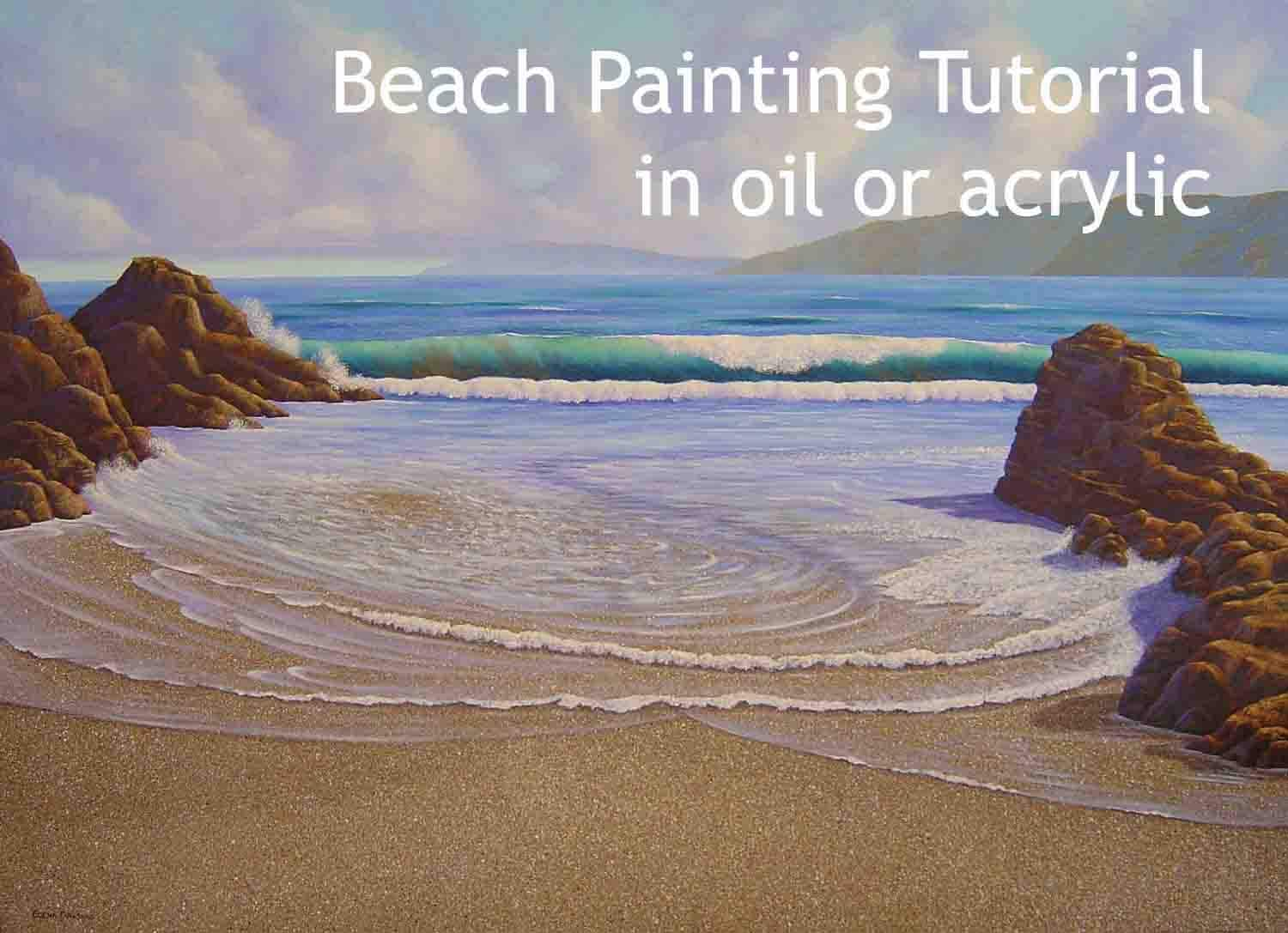 Beach Painting Tutorial In Oil Or Acrylic How To A Paint A