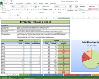 business sheets excel