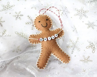 Christmas decoration, Personalised Christmas Ornament, Gingerbread Man, personalised gingerbread man, tree decorations