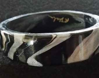 Black and White Striped Bracelet