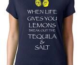 Funny Shirt When Life Gives You Lemons Tequila Shirt Margaritas Patron Tacos Party Shirts Men Tees Funny T Shirts Funny Shirts Guy Shirts