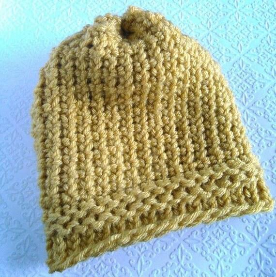 Tiny Heart Knitting Pattern : Yellow knit hat Tiny heart stitch hatGirls by ...