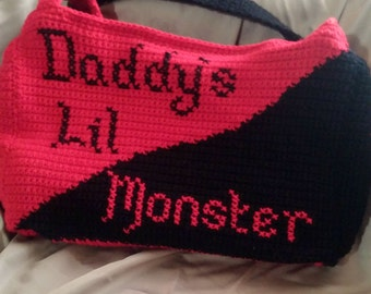 Daddy's Lil Monster Tote Bag, Harley Quinn Bag
