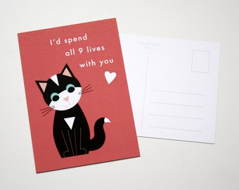 Card I'd spend all 9 lives with you