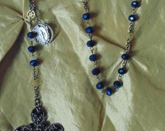 Rosary Steampunk (blue)