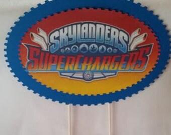 Skylander Superchargers Cake Topper, Skylanders Cake Topper, Boys Cake Topper, Skylanders, New Skylanders, Superchargers Cake Topper,