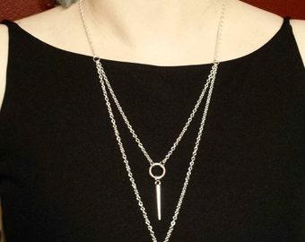 Double Dagger Necklace