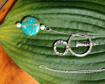 Conglomerate stone lighthouse lariat