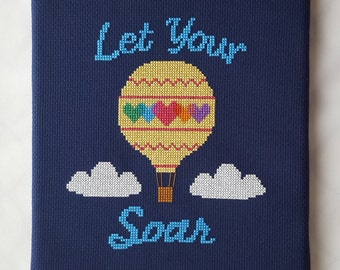 Let Your Heart Soar Cross Stitch - pattern only