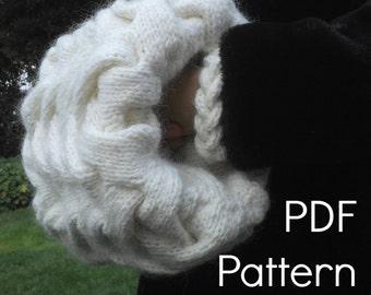 Winter Wonderland Muff a PDF Knitting Pattern by Theresa Shingler