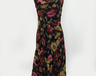 Asymmetric 90s Floral Cowl Tank Dress by Romerecci