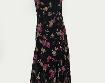 Floral 90s Asymmetric Beaded Tank Dress by Romerecci