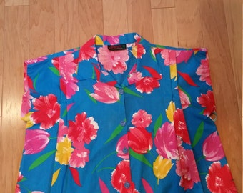 "Sleeveless vintage ""Breezy"" blouse"