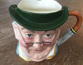 Vintage Staffordshire Mr. Pickwick Character Mug Toby Jug